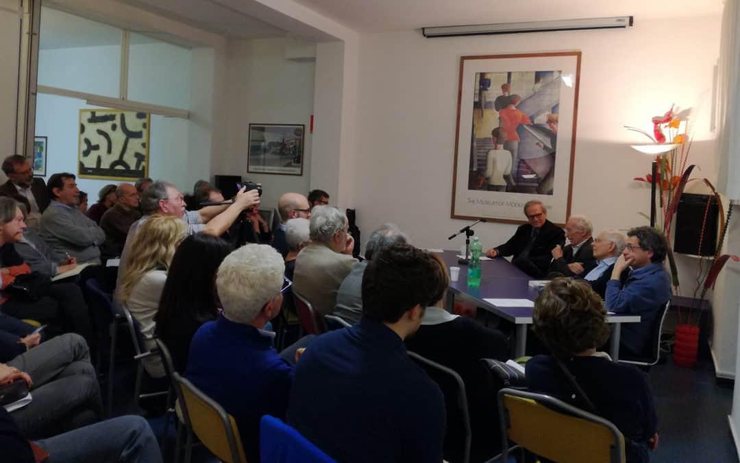Serata con il dr. Carlo Zucca Alessandrelli, il poeta Franco Loi, il prof. Valerio Onida e don Davide Caldirola: 9 febbraio 2018